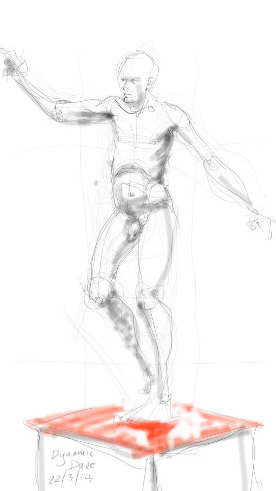 Dynamic Dave - nude study