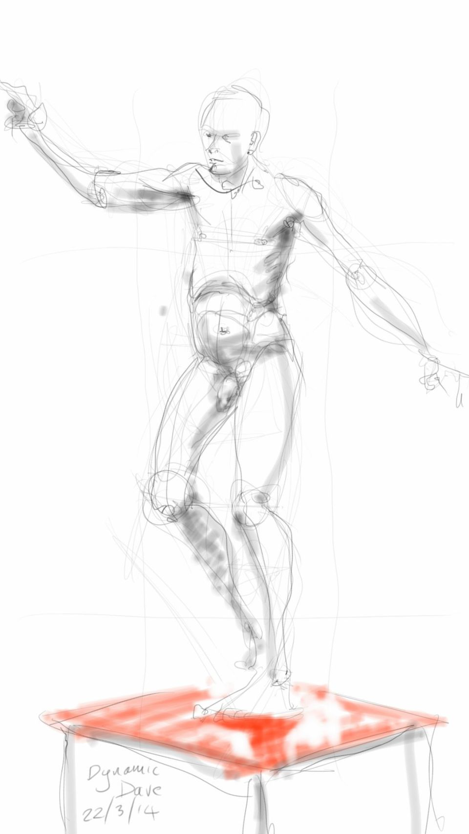 Dynamic Dave - nude study
