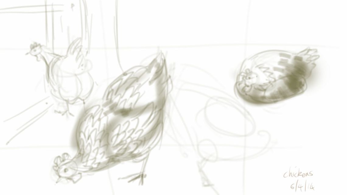 Unfinished chickens