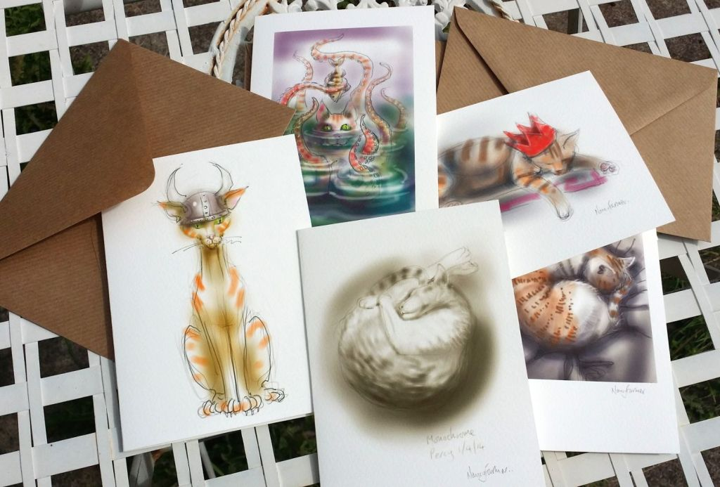 selection of Cat-of-the-Day greetings cards