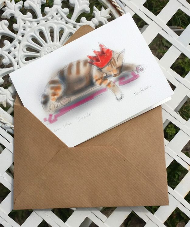greetings card: Der Kater