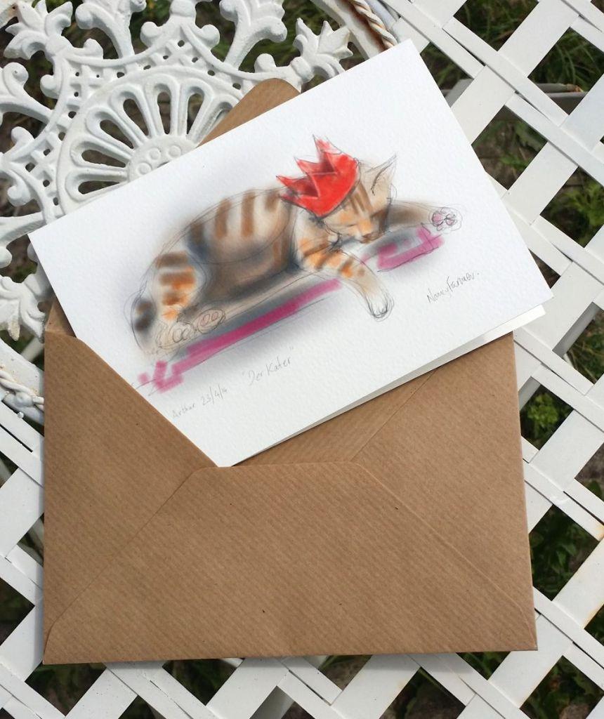 greetings card: Der Kater