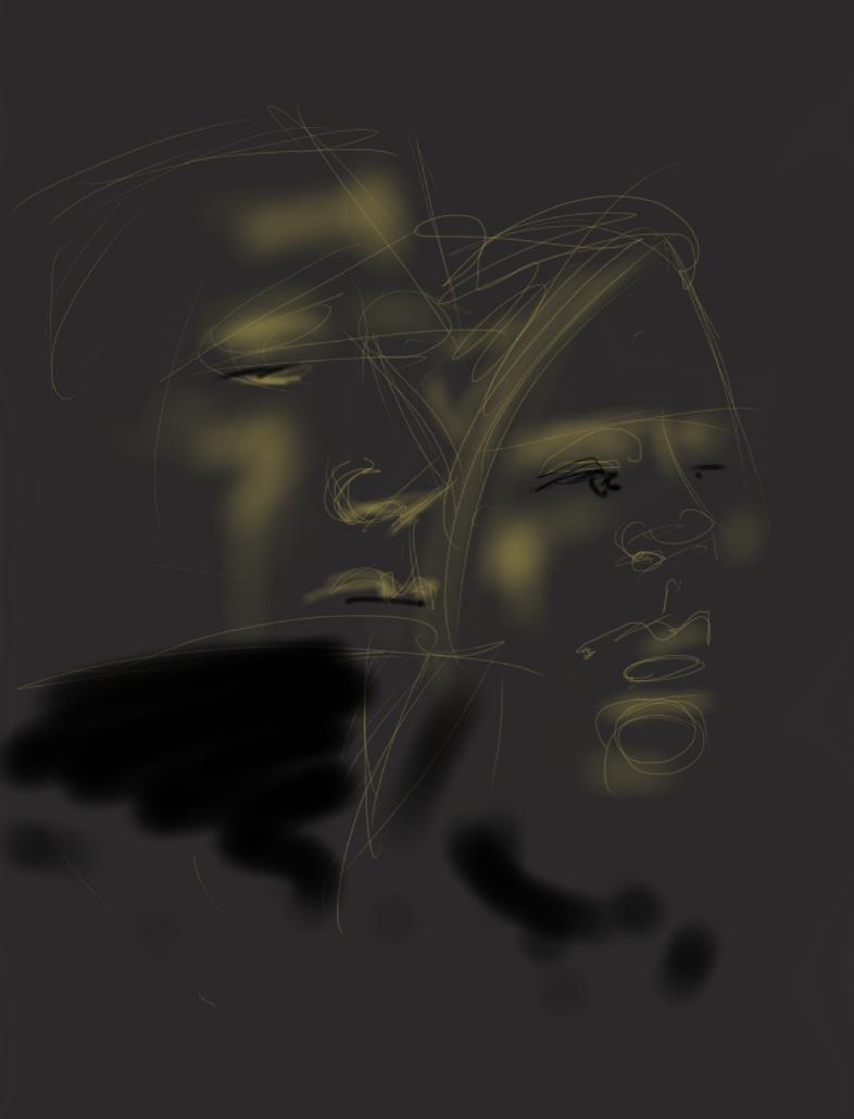 Shane & Jue in the dark