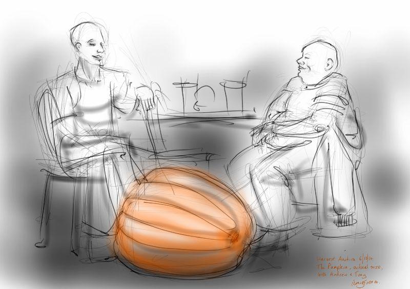Andrew, Tony and the Pumpkin