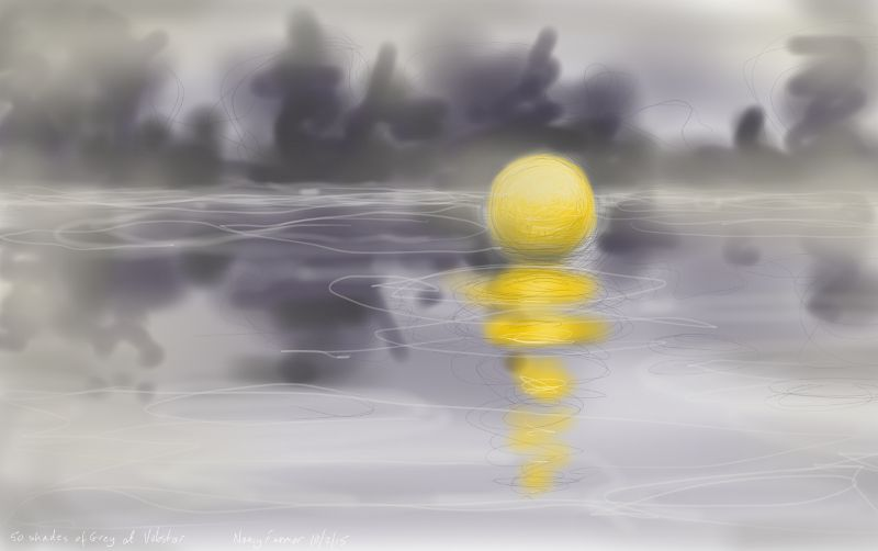 Fifty Shades of Grey and one extremely Yellow Buoy
