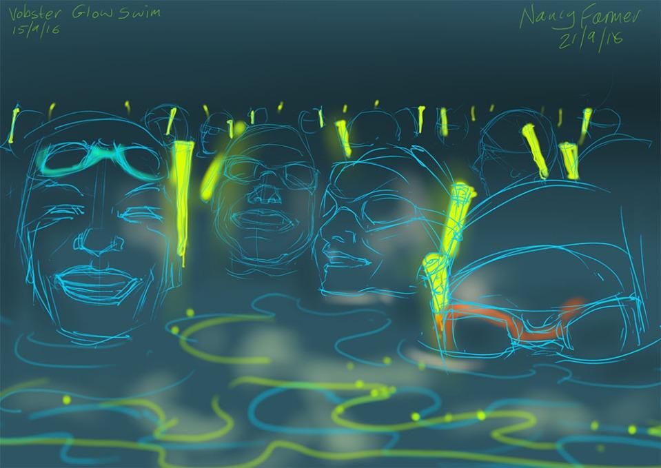 Vobster Quay's Glow Swim 2016