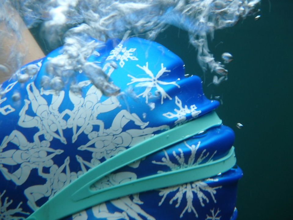 Blue Swimflakes underwater