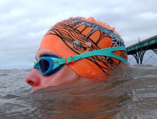 Me, orange Clevedon Pier hat and Clevedon Pier