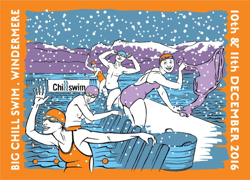 The Big Chill Swim postcard