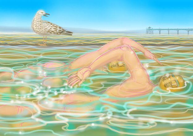 The Moonlit Swim
