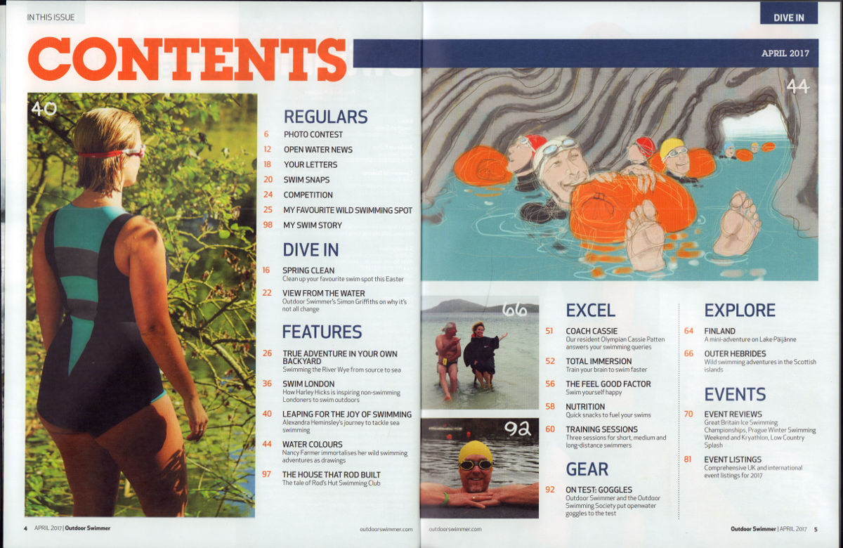 water colours u0027 u2013 an article for outdoor swimmer magazine waterdrawn