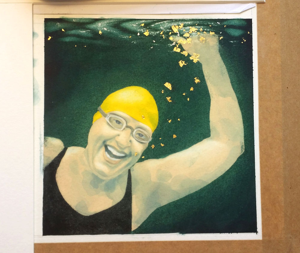 Hilary photo of painting