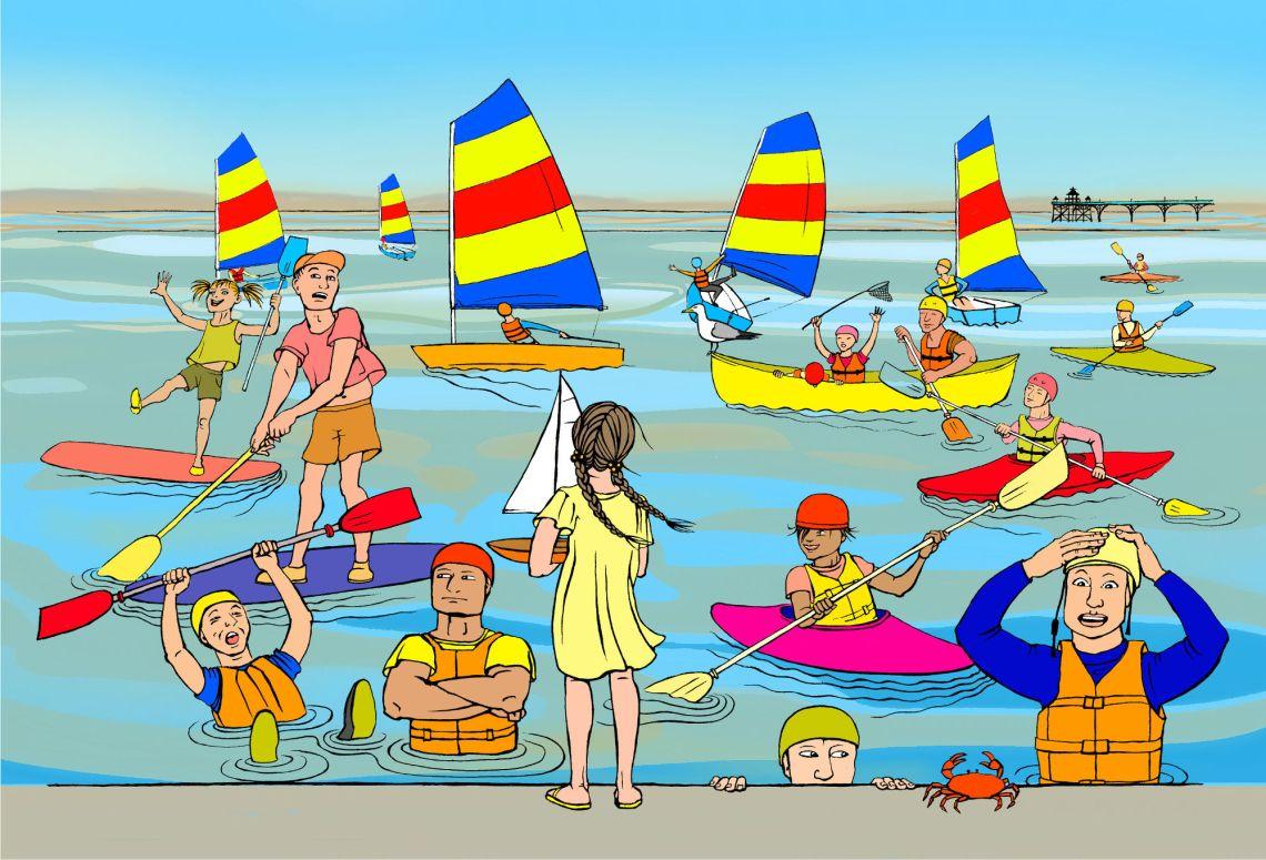 Boating at Clevedon design
