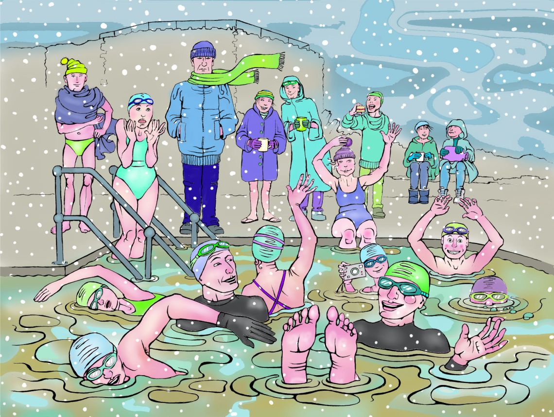 Clevedon Swimmers design