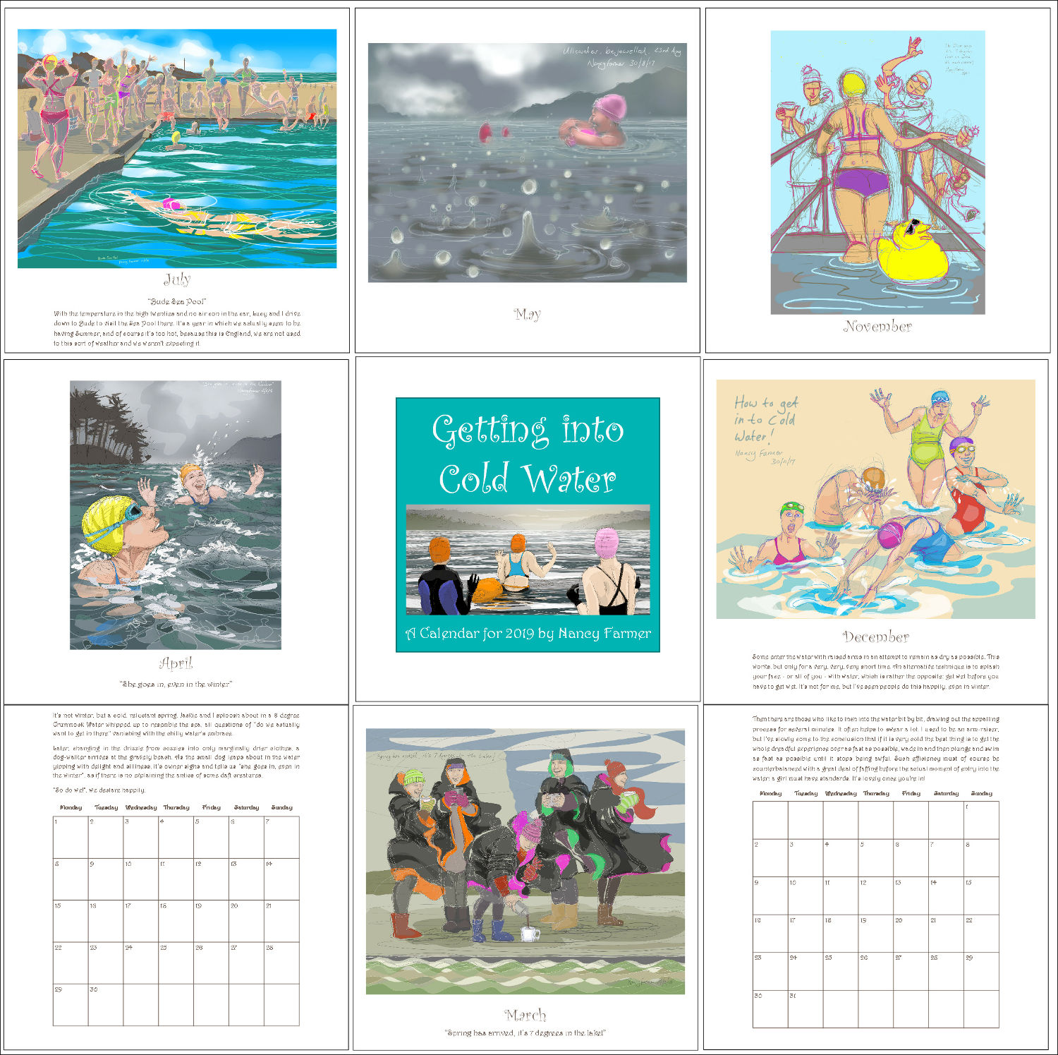 2019 Calendar - a few pages