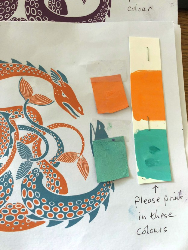 Matching the Sea Monster paint samples