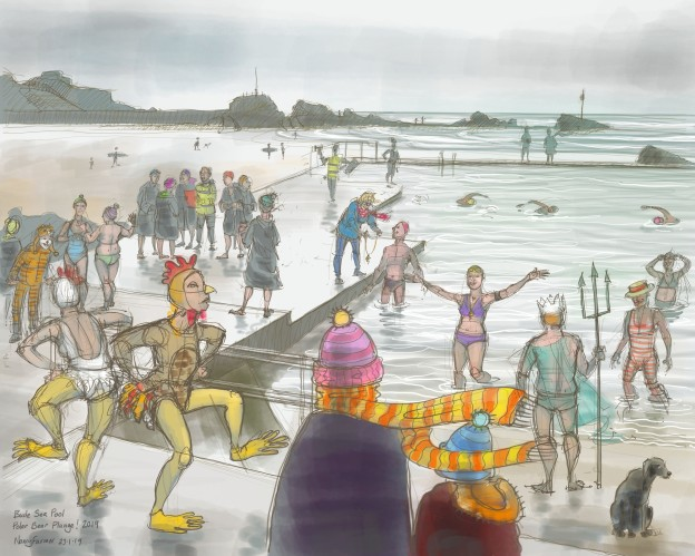 Polar Bear Plunge! 2019 at Bude Sea Pool