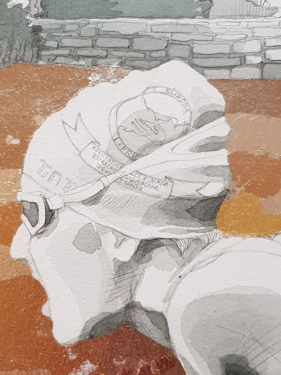 Detail of painting - Helen with hat details