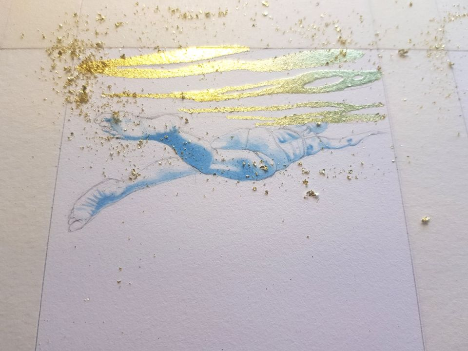 More gilding on a different mini painting