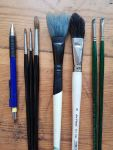 brushes, in order of appearance...
