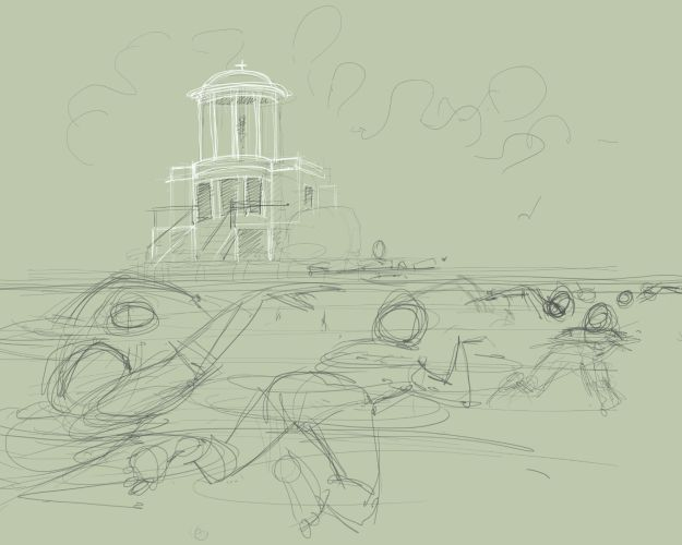 The Henley mile - first sketch