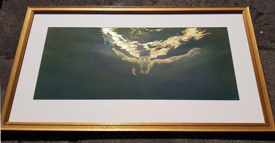 'Angel of Grasmere' - framed