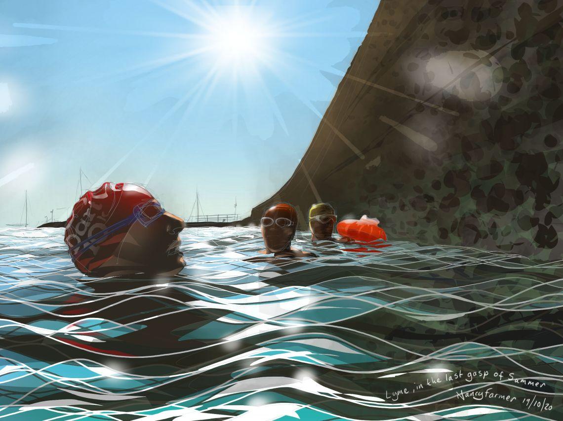 """Finally Lyme in the Last Gasp of Summer"" Digital drawing by Nancy Farmer"