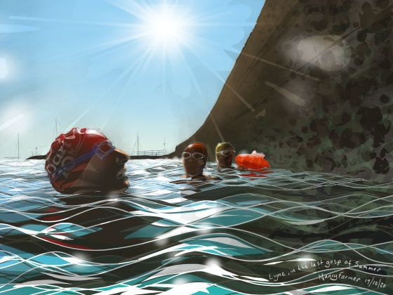 """Finally Lyme in the Last Gasp of Summer"" Digital drawing by Nancy Farmer"